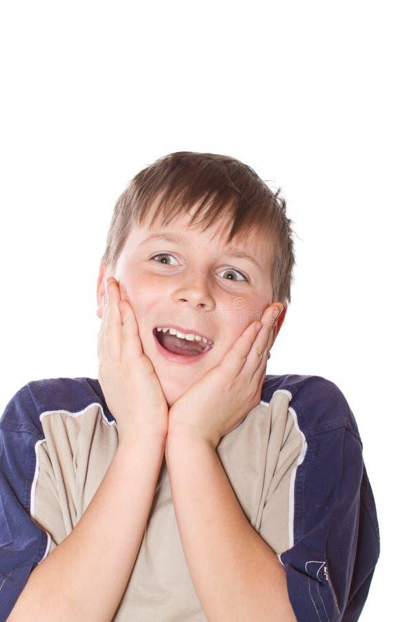 Happy surprise teenager