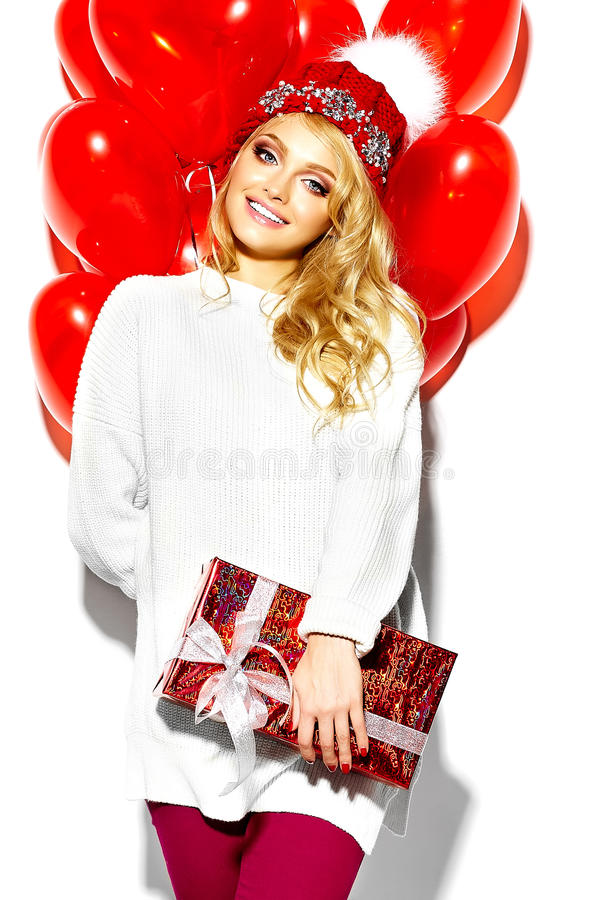 Free Happy Sweet Cute Smiling Blonde Woman In Stylish Clothes Royalty Free Stock Photo - 67824815