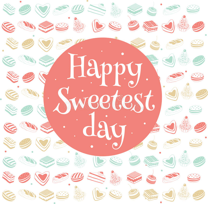 Happy sweetest day card stock vector illustration of cooky 78610569 happy sweetest day greetings card vector illustration m4hsunfo