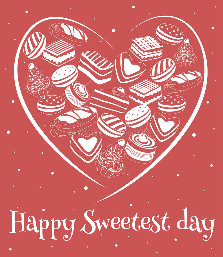 Happy sweetest day card stock vector illustration of cooky 78610735 happy sweetest day greetings card vector illustration m4hsunfo