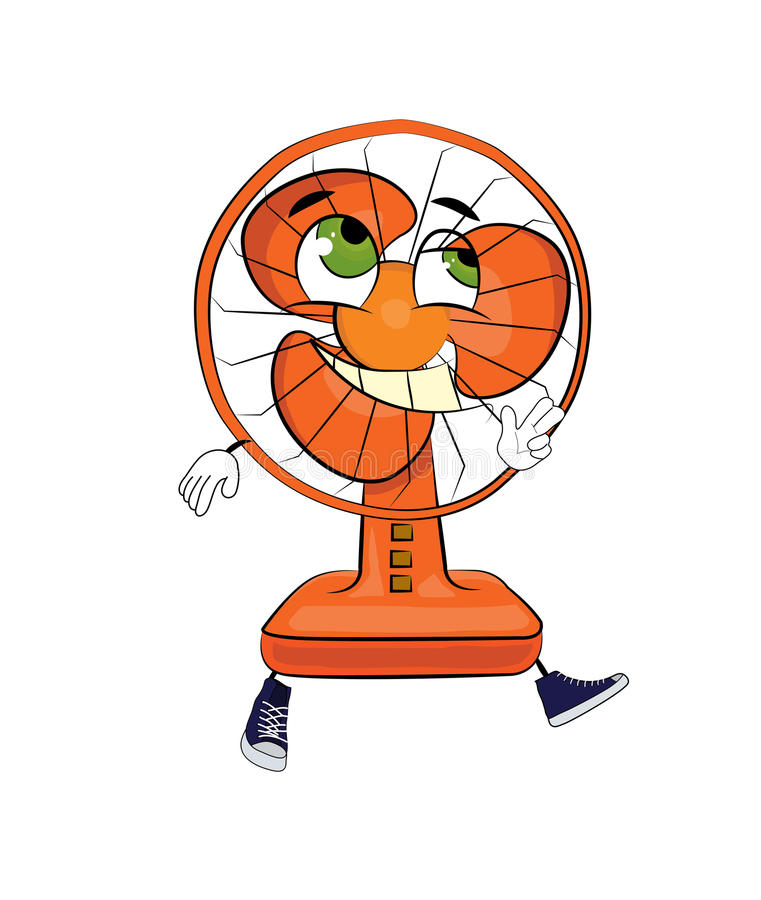 Cartoon Table Fans : Happy table fan cartoon stock illustration image