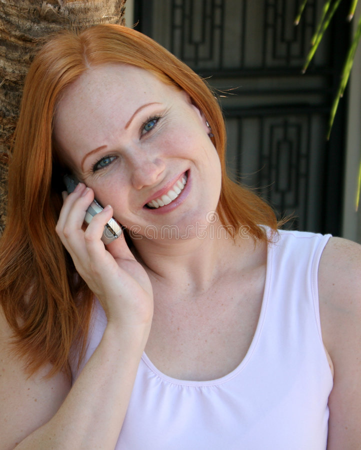 Happy talking stock photos