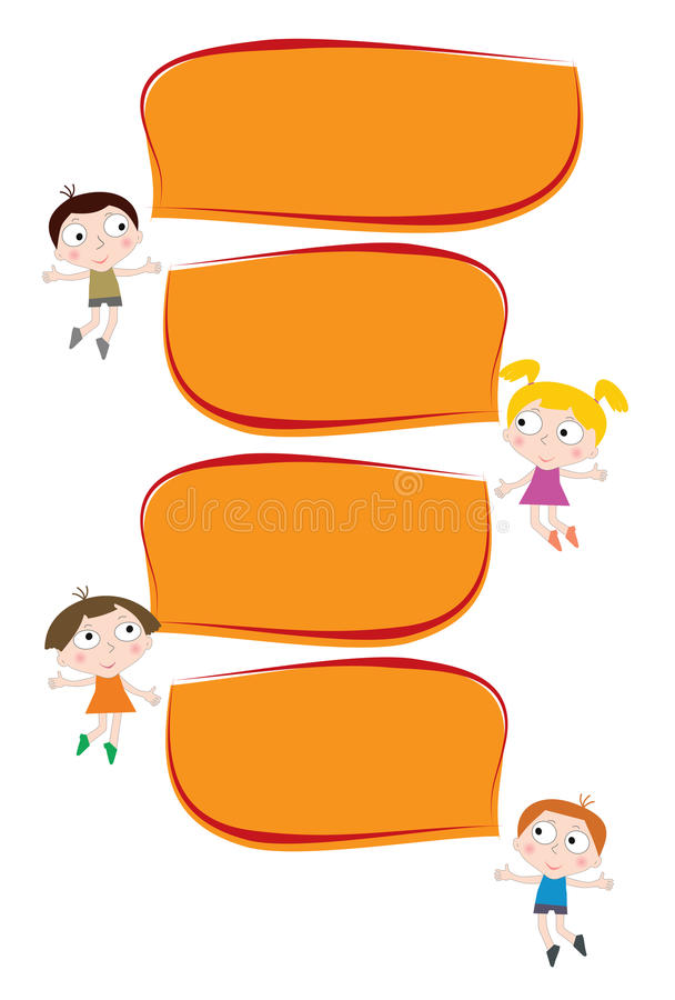 Happy talking children of different nationalities. Happy talking children of different nationalities stock illustration