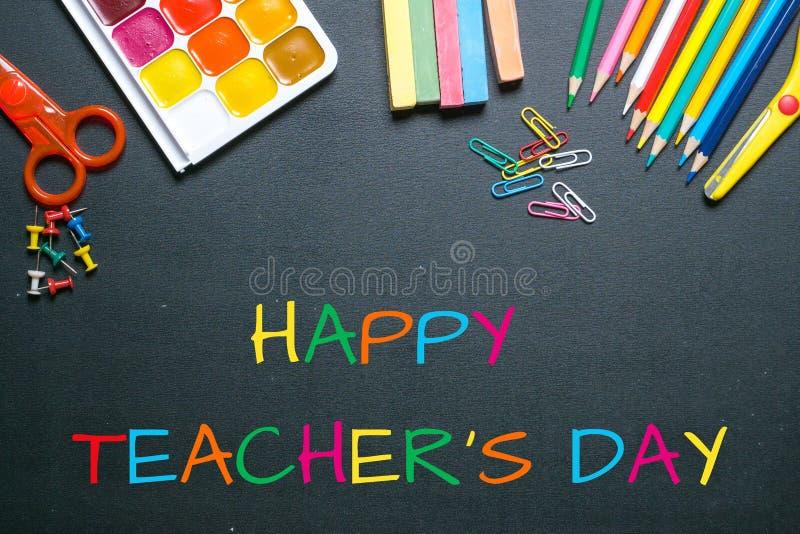 Happy teacher`s day stock image