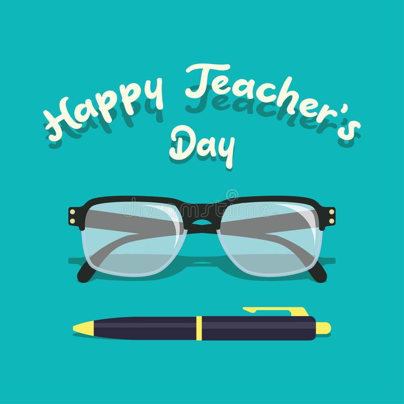 Happy teacher`s day concept. vector illustration. Happy teacher`s day concept for teacher`s day concpet. vector illustration royalty free illustration