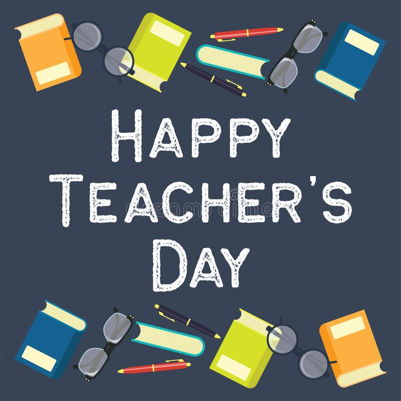 Happy teacher`s day concept. vector illustration. Happy teacher`s day concept for teacher`s day concpet. vector illustration vector illustration