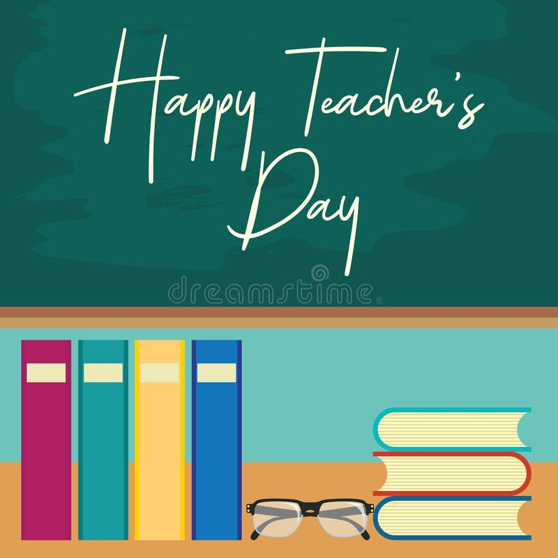 Happy teacher`s day concept. vector illustration. Happy teacher`s day concept for teacher`s day concpet. vector illustration stock illustration