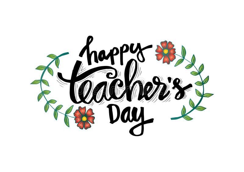 Happy teacher`s day royalty free illustration
