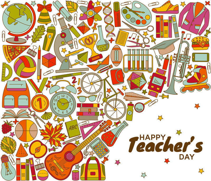 Happy Teachers Day background royalty free illustration