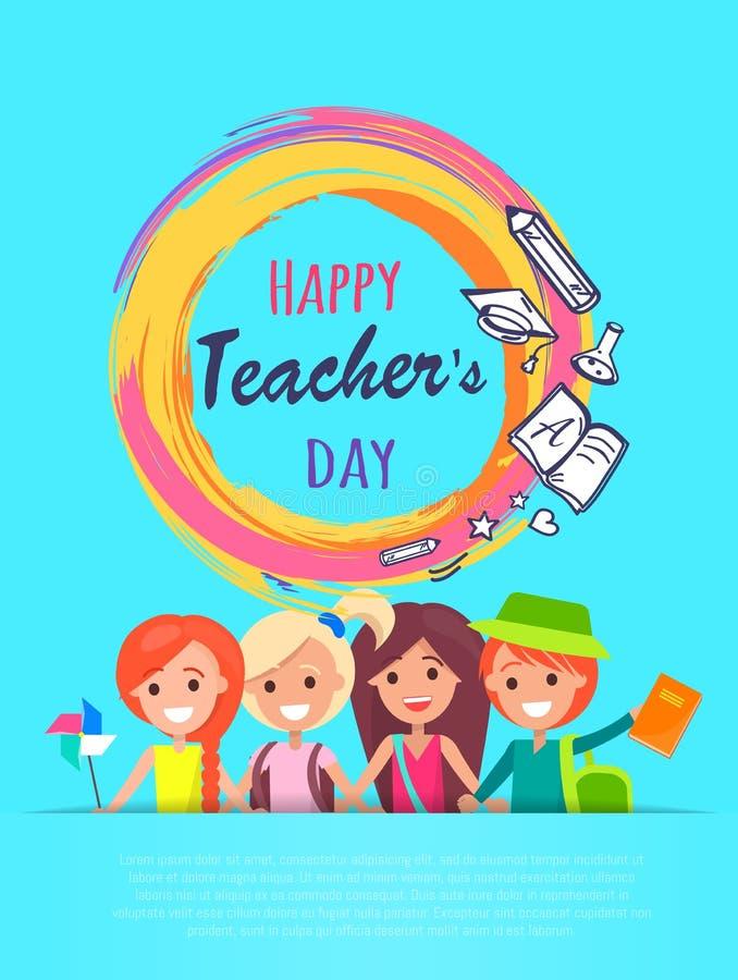 Happy Teachers Day Banner Vector Illustration stock illustration