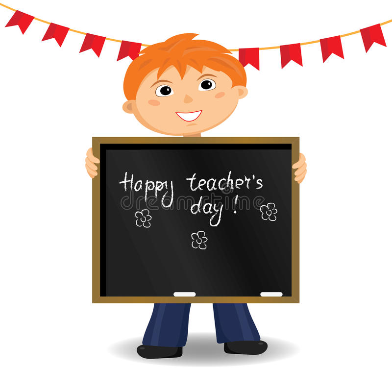 Happy teachers day card. Vector illustration. royalty free stock photography