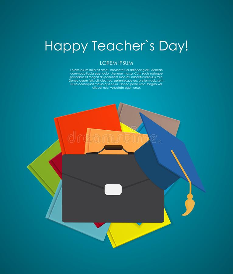 Happy teachers day concept background Vector Illustration vector illustration