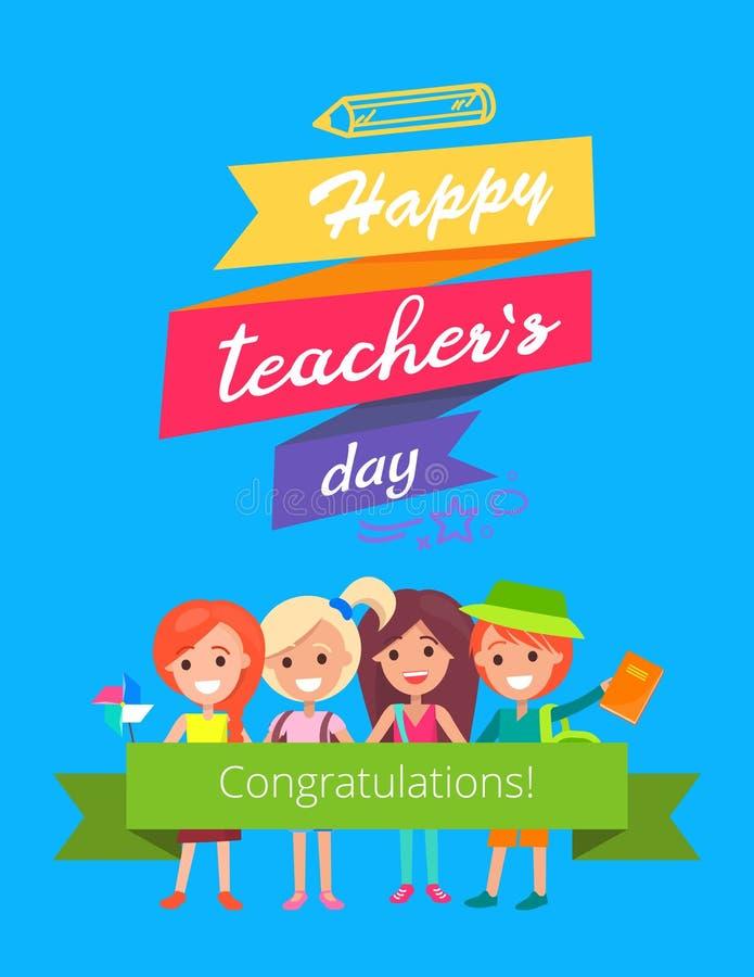 Happy Teachers Day Promo Vector Illustration vector illustration