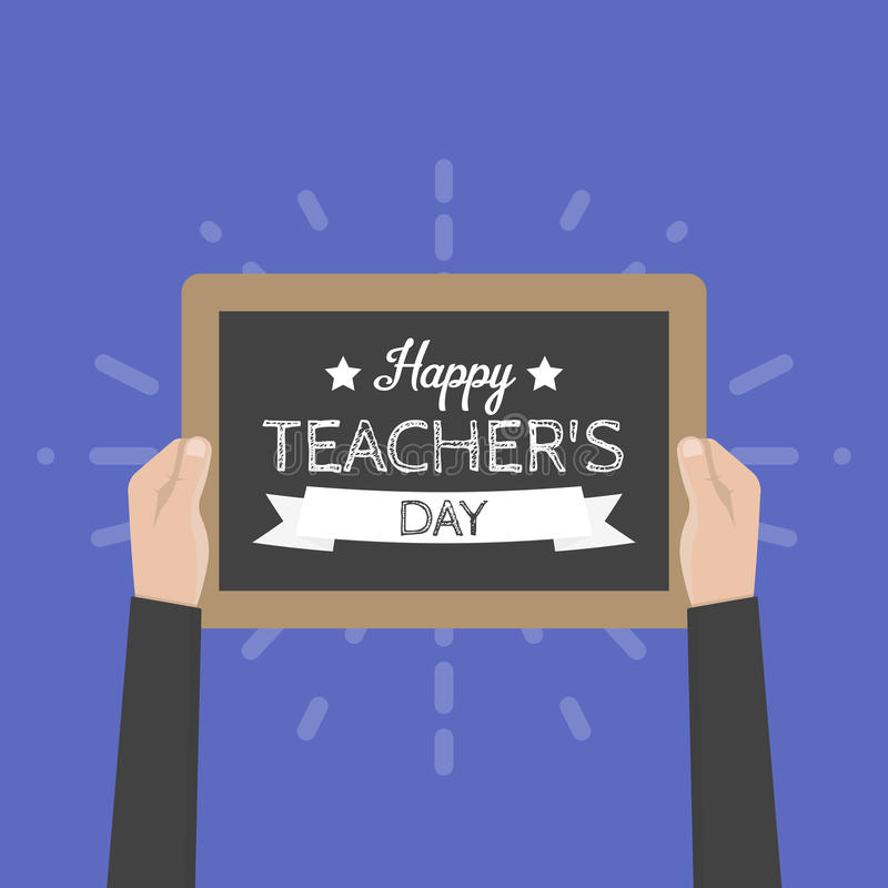 Happy Teachers Day greeting card. Vector illustration stock illustration
