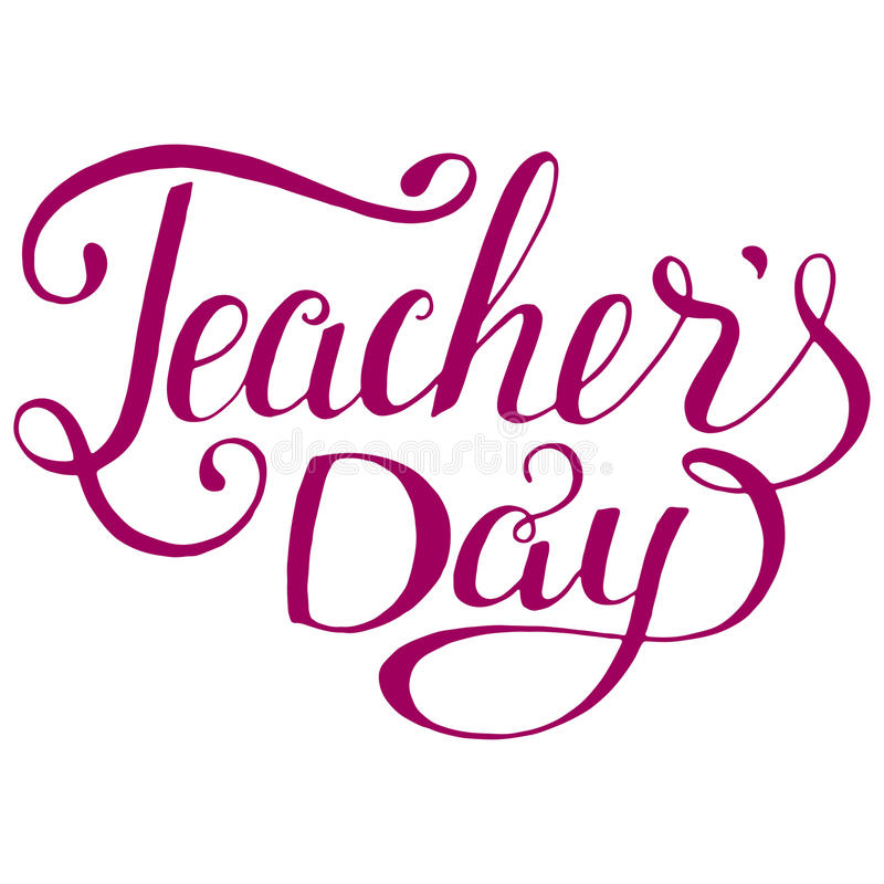 Beautiful Quotes For Teachers Day Cards: Happy Teachers Day Typography. Lettering Design For