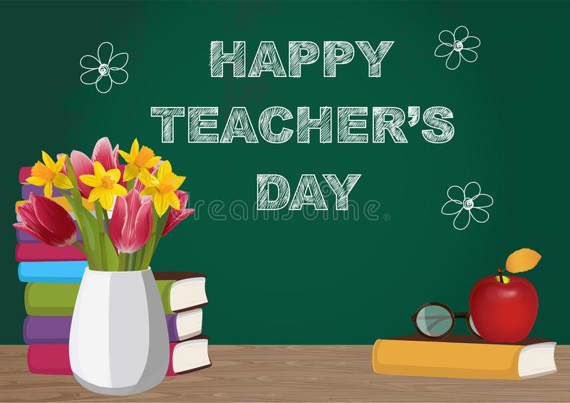 Happy teachers day. Vector illustration vector illustration