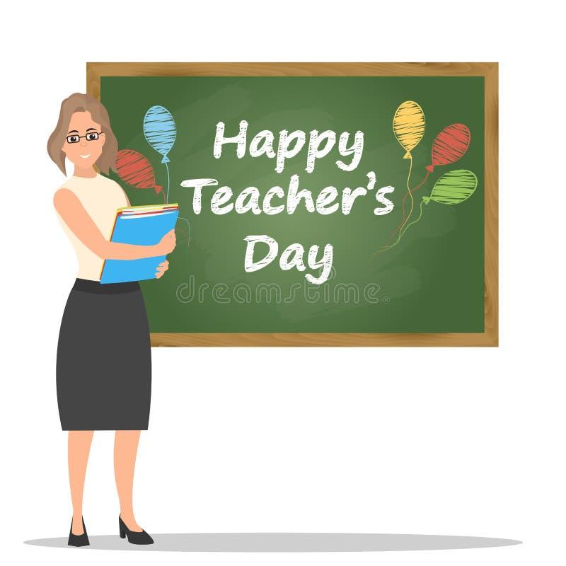Happy teachers day vector illustration. royalty free illustration