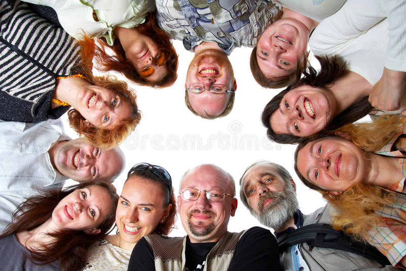 Happy team. Isolated. stock photos