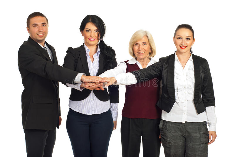 Download Happy Team Of United  Business People Stock Image - Image: 19423429