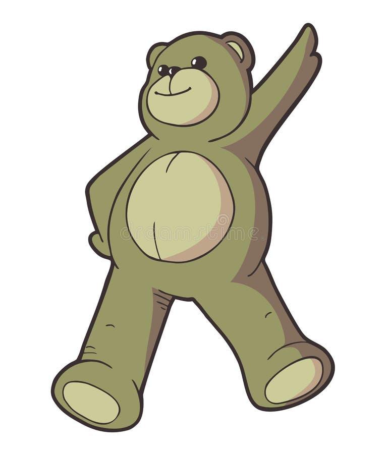 Happy teddy bear draw. Creative design of happy teddy bear draw vector illustration