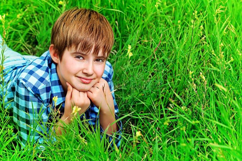 Happy teen stock image