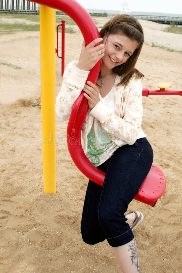 Download Happy Teen stock image. Image of playground, outside - 25376573