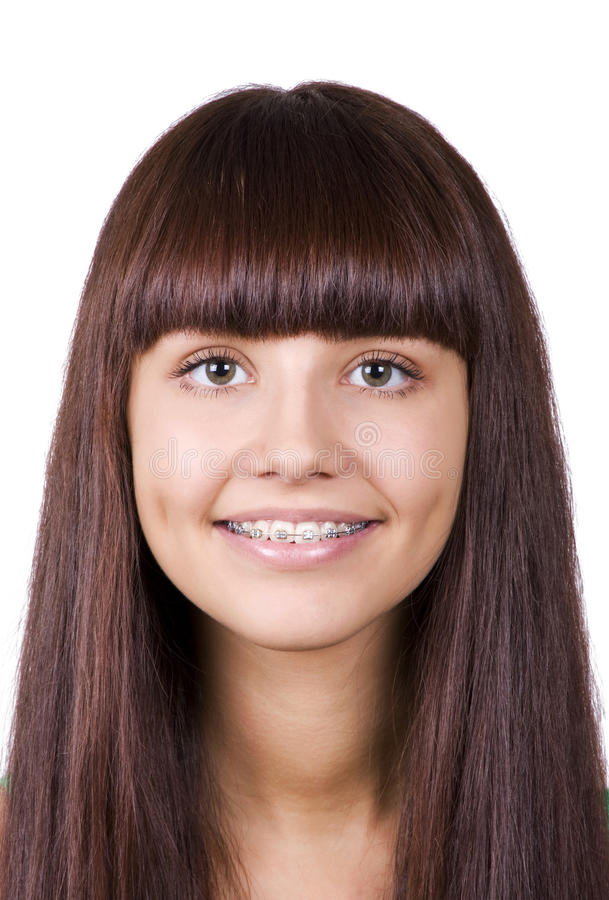 Download Happy teen with braces. stock photo. Image of young, cute - 21548000