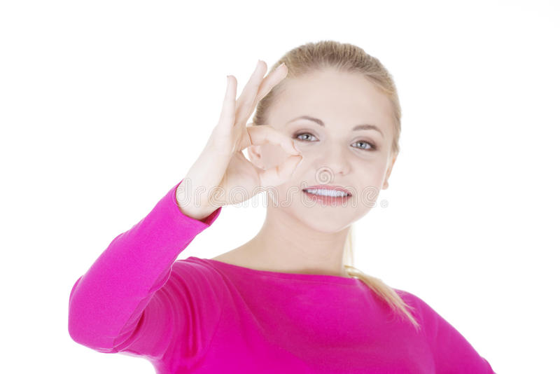 Download Happy Teen Girl Gesturing Perfect Stock Image - Image: 30390303