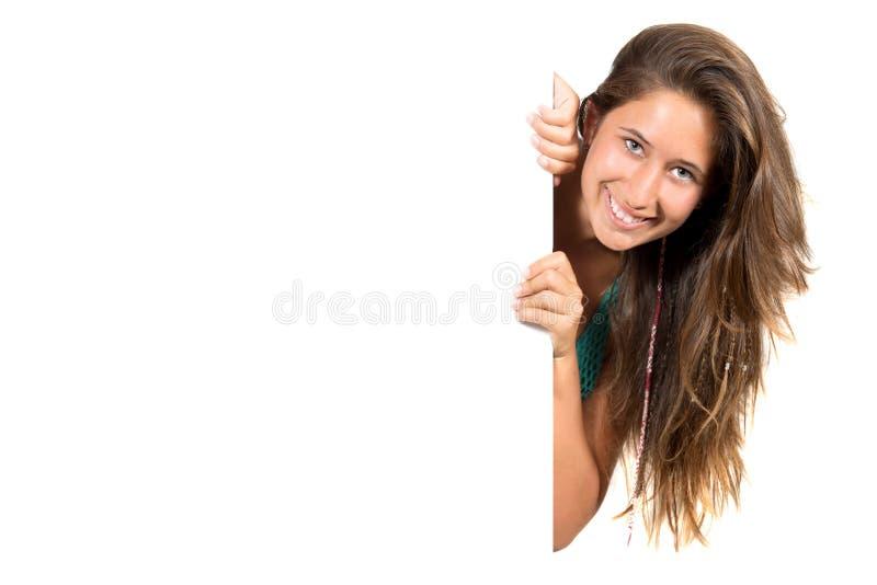 Download Happy teen girl stock image. Image of people, billboard - 33473557