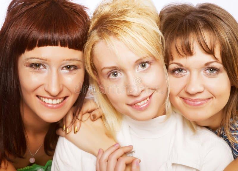 Happy teen girls stock images