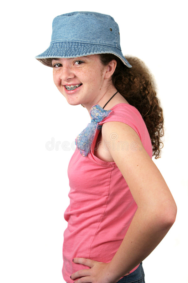 Happy Teen By Crumbling Wall Stock Image: Happy Teen Model Stock Image. Image Of Braces, Person