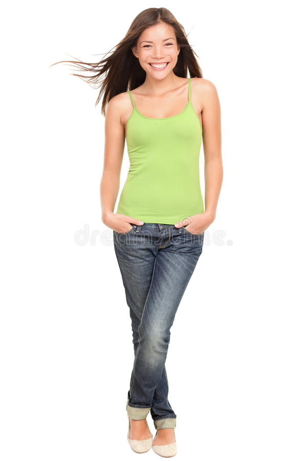 Download Happy Teen Student Full Body On White Background Stock Photo - Image: 21941644