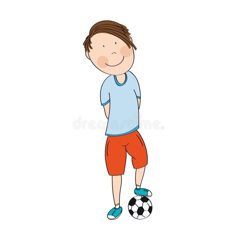 Free Happy Teenage Boy With Ball, Ready To Play Football / Soccer - O Royalty Free Stock Image - 125810496