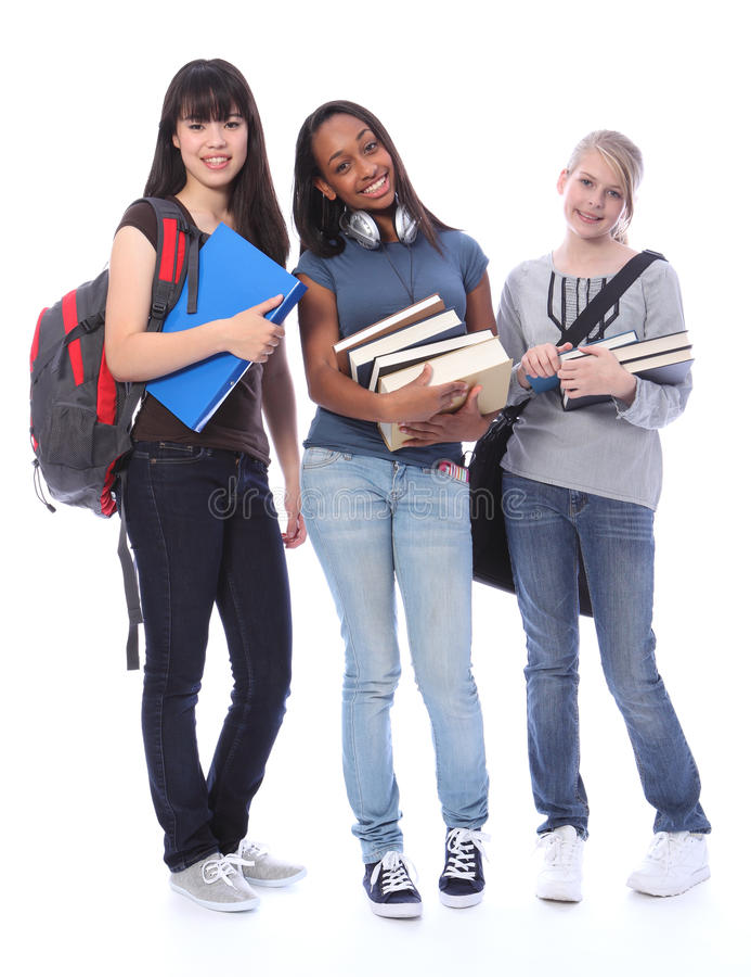 Free Happy Teenage Ethnic Student Girls In Education Stock Photos - 21425643