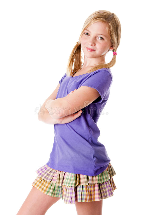 Happy Teenage Fashion Stock Image Image Of Pigtails -8080