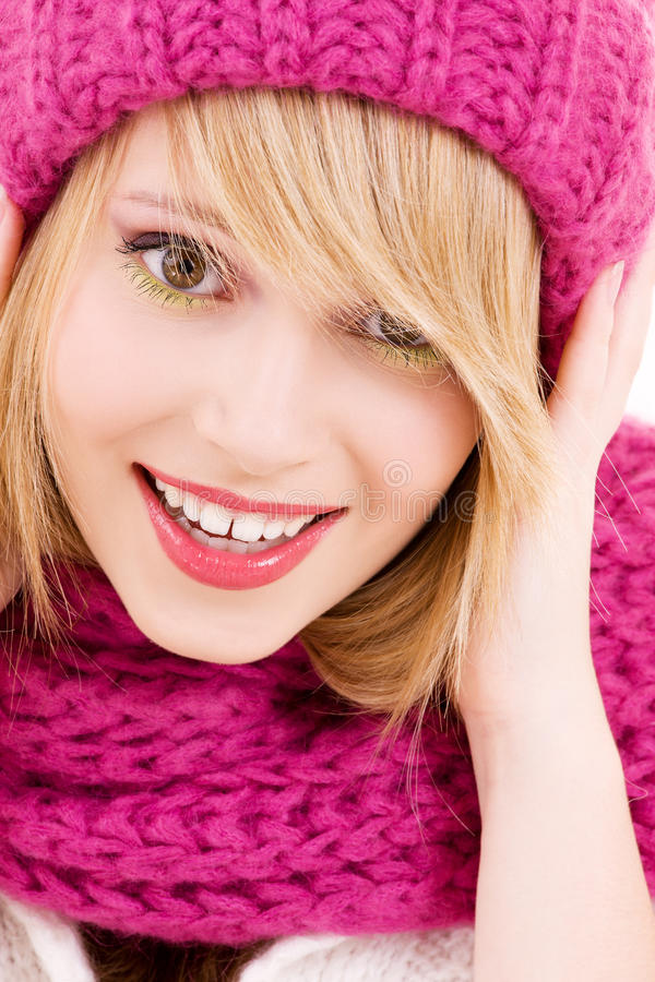 Download Happy teenage girl in hat stock image. Image of lovely - 11529277