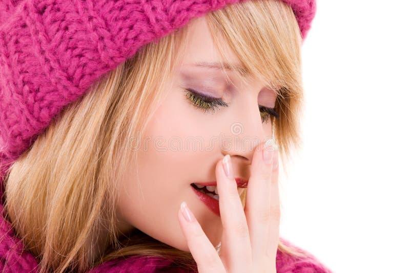 Download Happy teenage girl in hat stock image. Image of caucasian - 11783417