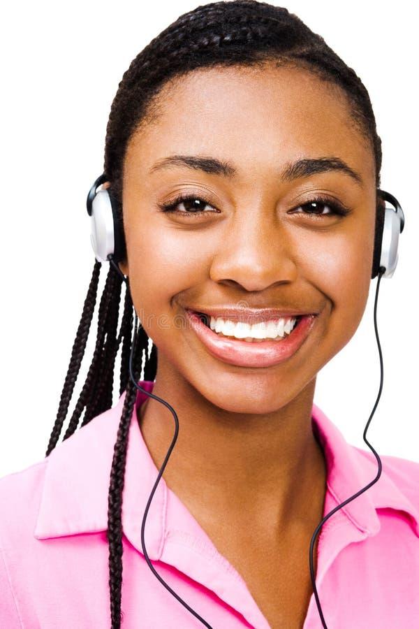 Free Happy Teenage Girl Listening Music Royalty Free Stock Photography - 11042027