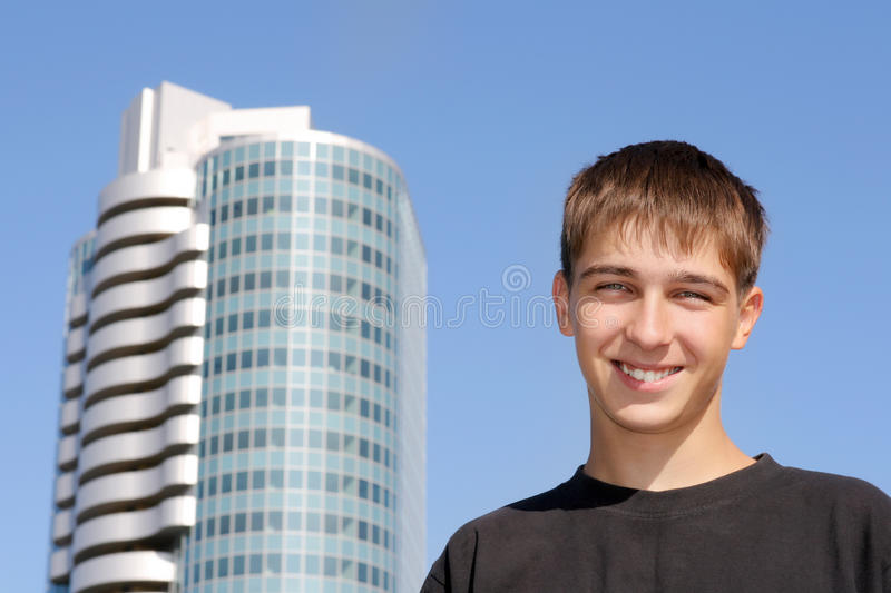 Download Happy Teenager stock image. Image of male, brown, adolescence - 28115969