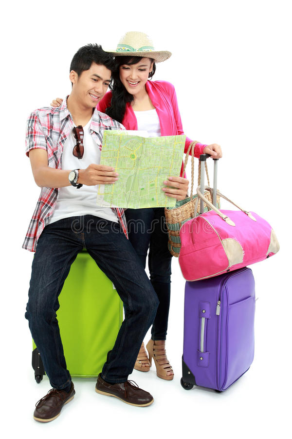 Happy Teenager Going On Vacation Royalty Free Stock Photos