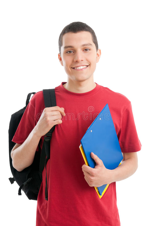 Happy teenager student royalty free stock photography