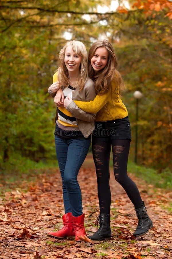 Happy teenagers stock photography
