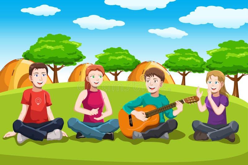 Download Happy teenagers having fun stock vector. Image of leisure - 29305932