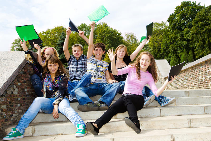 Download Happy Teens Stock Photo - Image: 16269960