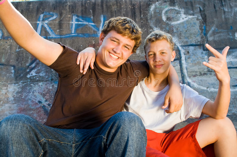 Happy teens royalty free stock images