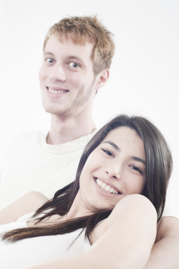 Download Happy Teens Couple Laughing With Joy Stock Image - Image: 17918475
