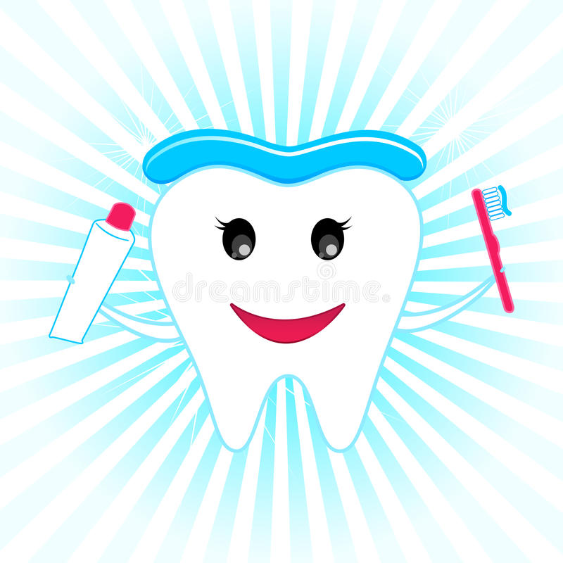 Happy Teeth stock illustration