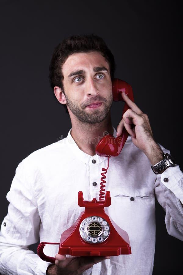 Download A happy telephoneman stock photo. Image of pressure, dark - 31684344
