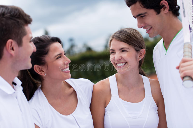Download Happy tennis players stock image. Image of sportswear - 30876289
