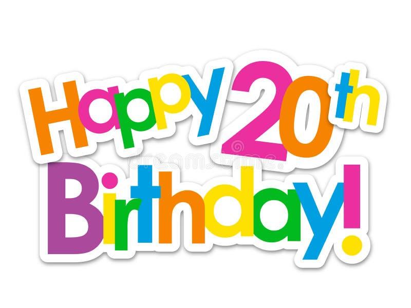 Happy 20th Stock Illustrations 2 719 Happy 20th Stock Illustrations Vectors Clipart Dreamstime